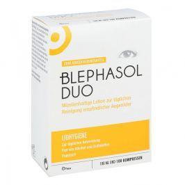 Blephasol Duo Zestaw płyn do powiek + waciki