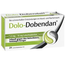 Dolo Dobendan  Tabletki do ssania 1,4mg/10mg