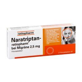 Naratriptan ratiopharm bei Migraene Filmtabletten