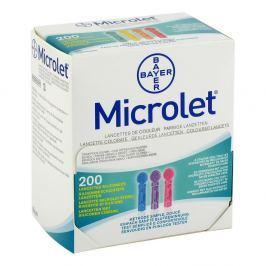 Microlet lancety kolorowe