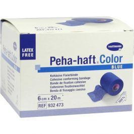 Peha Haft Color Fixierbinde latexf.6cmx20m blau