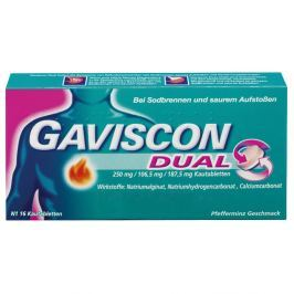Gaviscon Dual 250mg/106,5mg/187,5mg tabletki do ssania