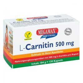 L-carnitin 500 mg Megamax Kapseln