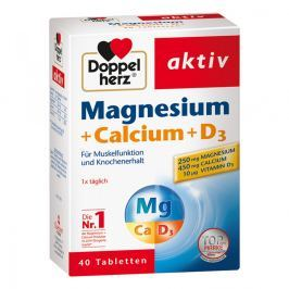Doppelherz magnez + wapń + wit. D3 tabl.