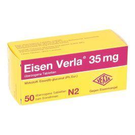 Eisen Verla 35 mg überzogene Tabletten Witaminy, minerały, suplementy diety