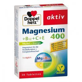 Doppelherz Magnez 400 +wit. B12+C+E tabletki