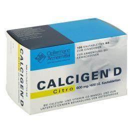 Calcigen D Citro 600 mg/400 I.e. Kautabl.