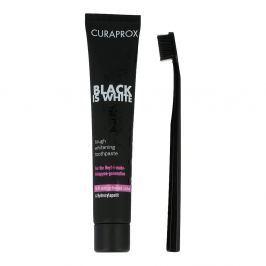 Curaprox Black is White, węglowa pasta do zębów ze szczoteczką