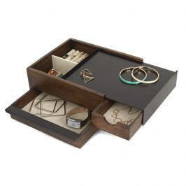 Umbra - Pudełko na biżuterię Stowit - orzechowe