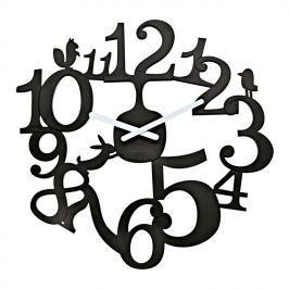 Koziol - zegar ścienny PI:P - czarny - czarny